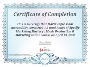 Udemy Spotify Marketing Certification