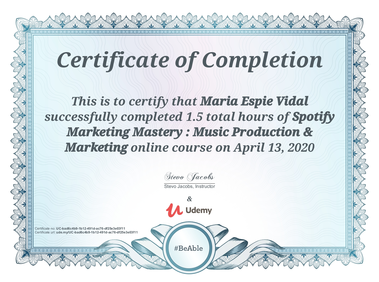 Spotify Marketing Course: Completed!